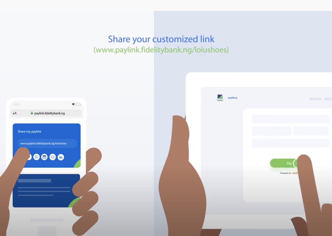 Fidelity Paylink | Safer, Easier Social Media Payments