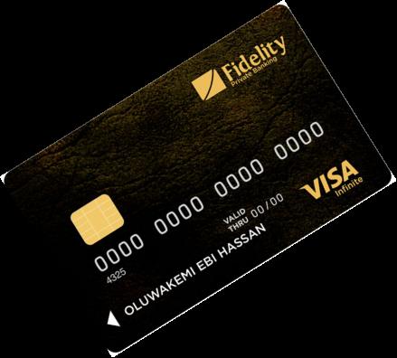 Fidelity bank cards Visa Infinite Credit Card
