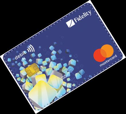 Fidelity bank cards Debit MasterCard