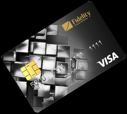 Fidelity bank cards Visa Platinum Credit Card