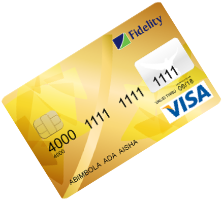 Fidelity bank cards Visa Gold Debit Card