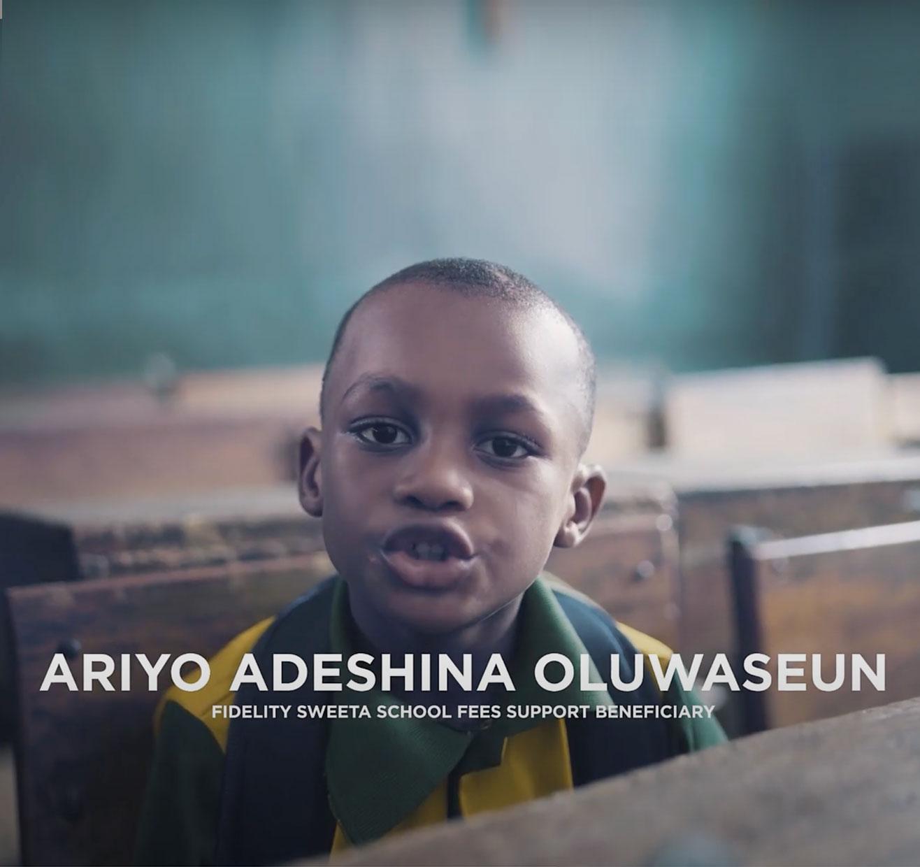 Oluwaseun Ariyo Gets Rewarded with Fidelity SWEETA N150,000 School Fees Support